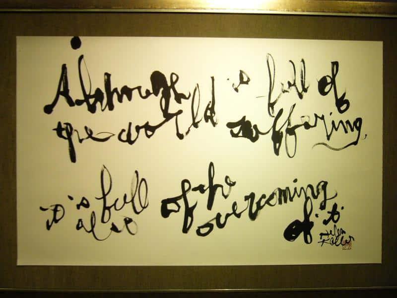 Words by Helen Adams Keller