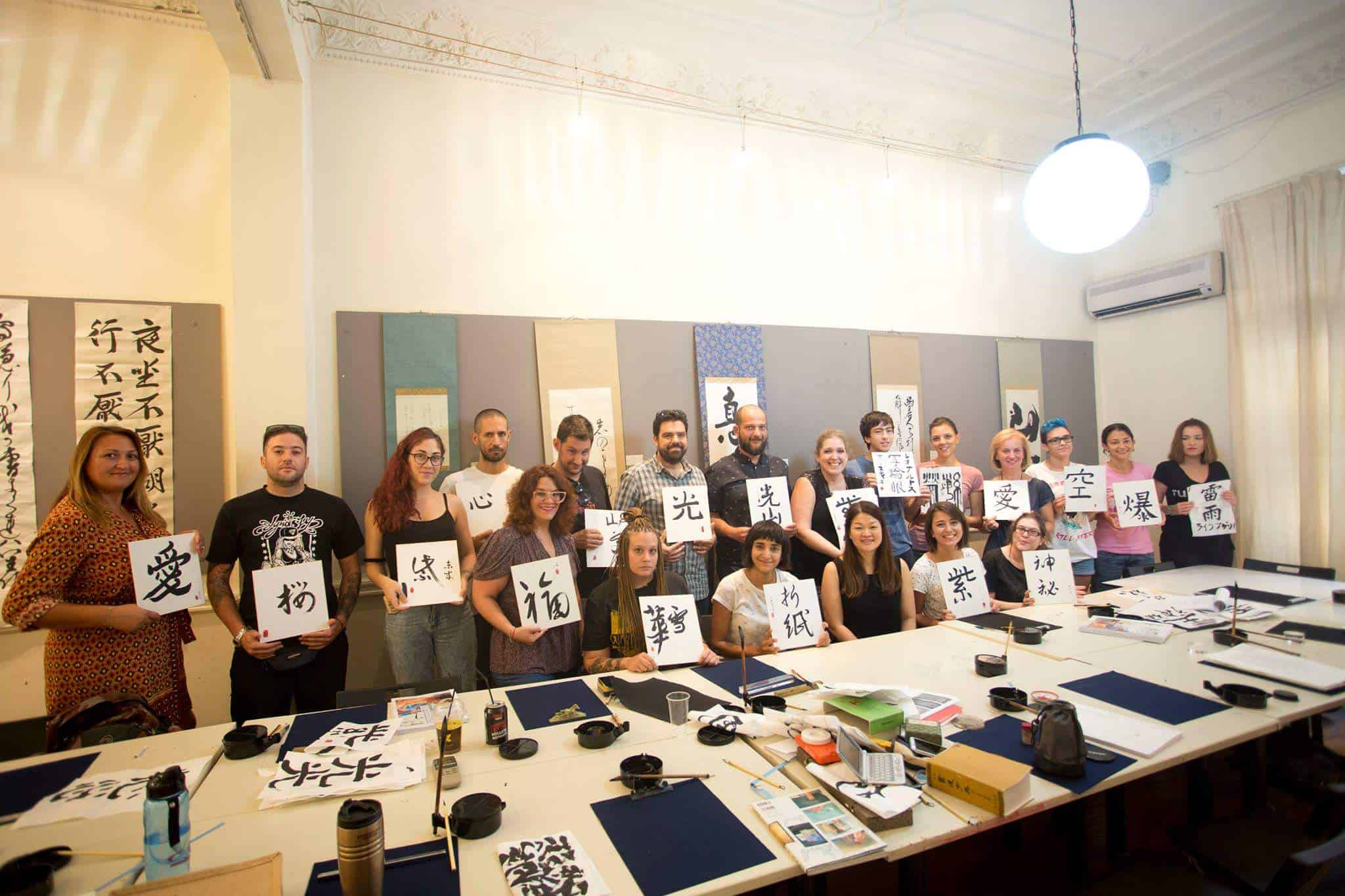 14753659 10210899648955085 3417835812382290573 o - Calligraphy workshop in Greece