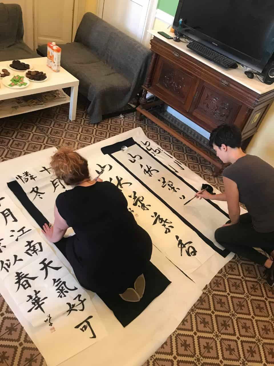 20190916005053 p - ギリシャでの書道教室 Calligraphy workshop in Greece