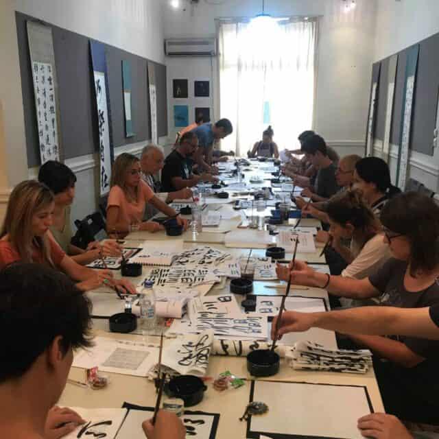 20190916010715 p 640x640 - ギリシャでの書道教室 Calligraphy workshop in Greece
