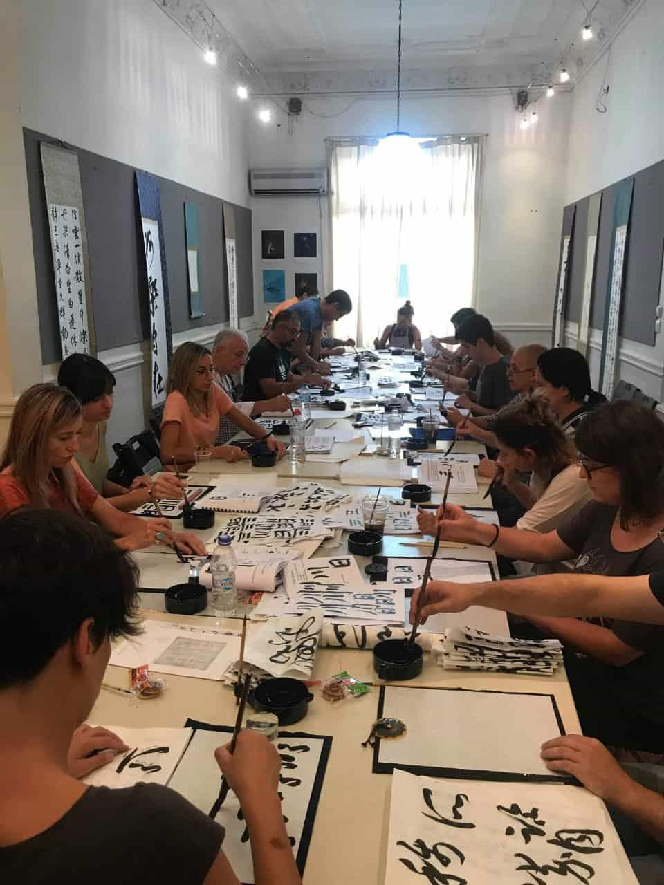 20190916010715 p - ギリシャでの書道教室 Calligraphy workshop in Greece