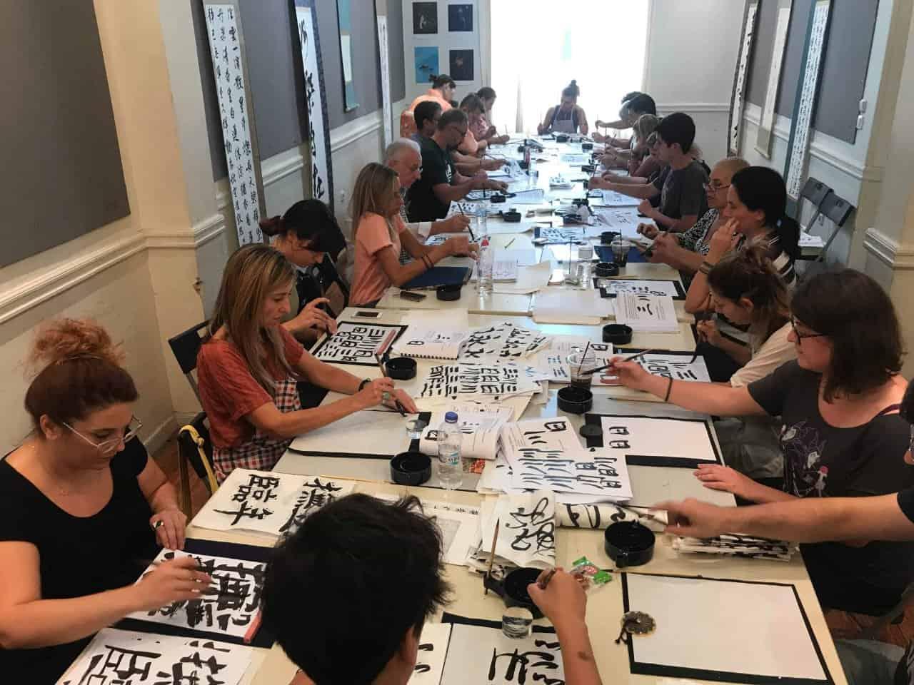 20190916010727 p - ギリシャでの書道教室 Calligraphy workshop in Greece